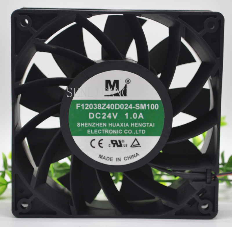 Free Shipping F12038Z40D024-SM100 Inverter Cooling Fan DC 24V 1A 24W 12038 12cm 120*120*38mm 4 Wires