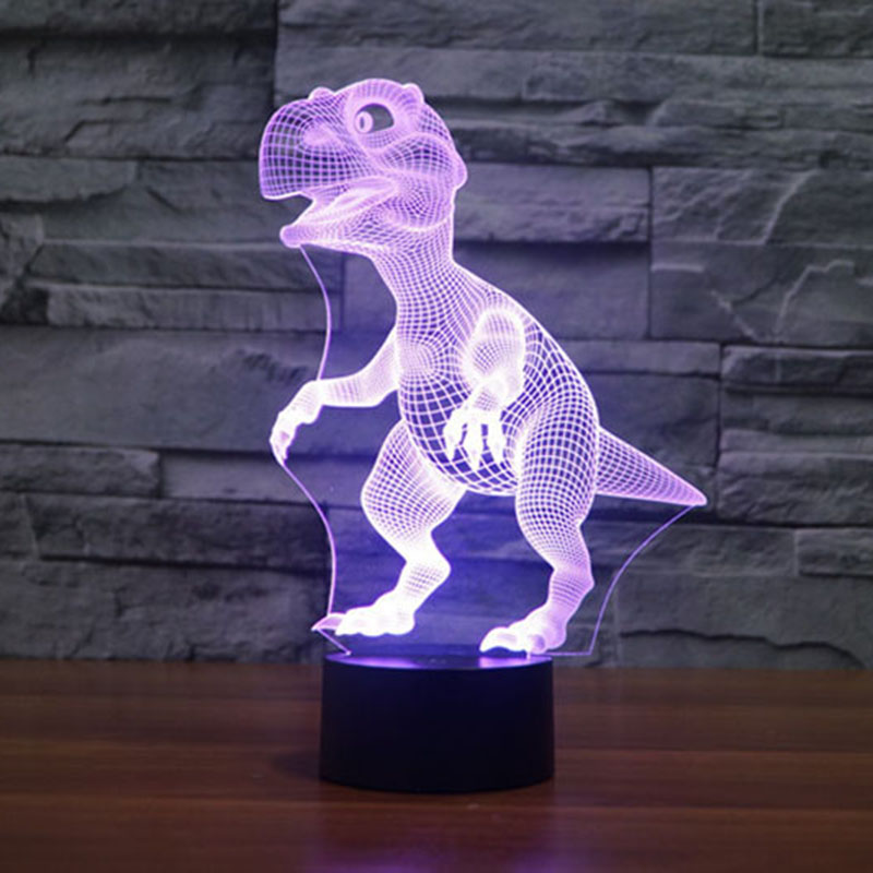 New Dinosaur Head 3D Night Light Building Lamp for Bedroom Living Room  Interesting Animal Pattern 3D - Online Buy Wholesale Dinosaur Table Lamp From China Dinosaur Table