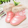 New Girl's Winter Snow Ankle Boots PU Leather Fashion Sneakers For Children Kid Shoes Martin Booties Size 21-30 Flats Heels Shoe