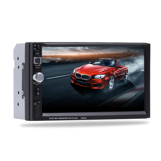 9 languages 2 DIN 7 inch Car Stereo MP5 Radio Player steering wheel control Touch Screen Bluetooth MP4 Player with Rear Camera