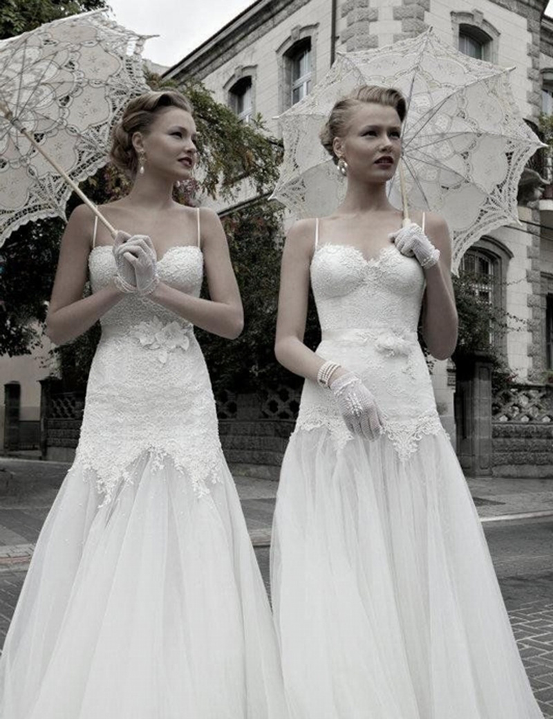 Ücretsiz Kargo Dantel Manuel Açılış Düğün Şemsiye Gelin - Düğün Aksesuarları - Fotoğraf 2