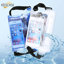 KISSCASE Universal Waterproof Pouch Bags Cases For iPhone X 8 7 Samsung S9 S8 S7 For Xiaomi mi8 Huawei Waist Pouch Shoulder Bags(China)