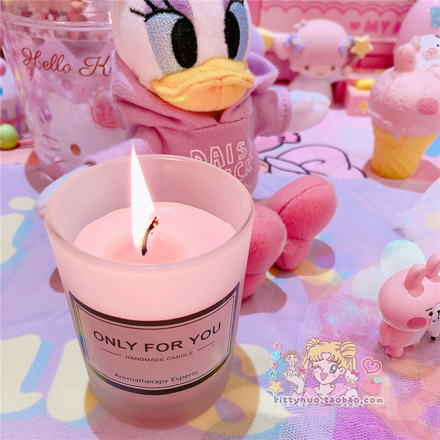 Baby Girl Candles Wedding Decoration Scented Pink Jar Wax Candle Light Tealight Aroma Fete Candele Cera Party Candles 50KO309 1