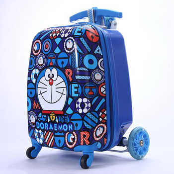 TRAVEL TALE child gift scooter suitcase cabin skateboard trolley lazy luggage bag for kids