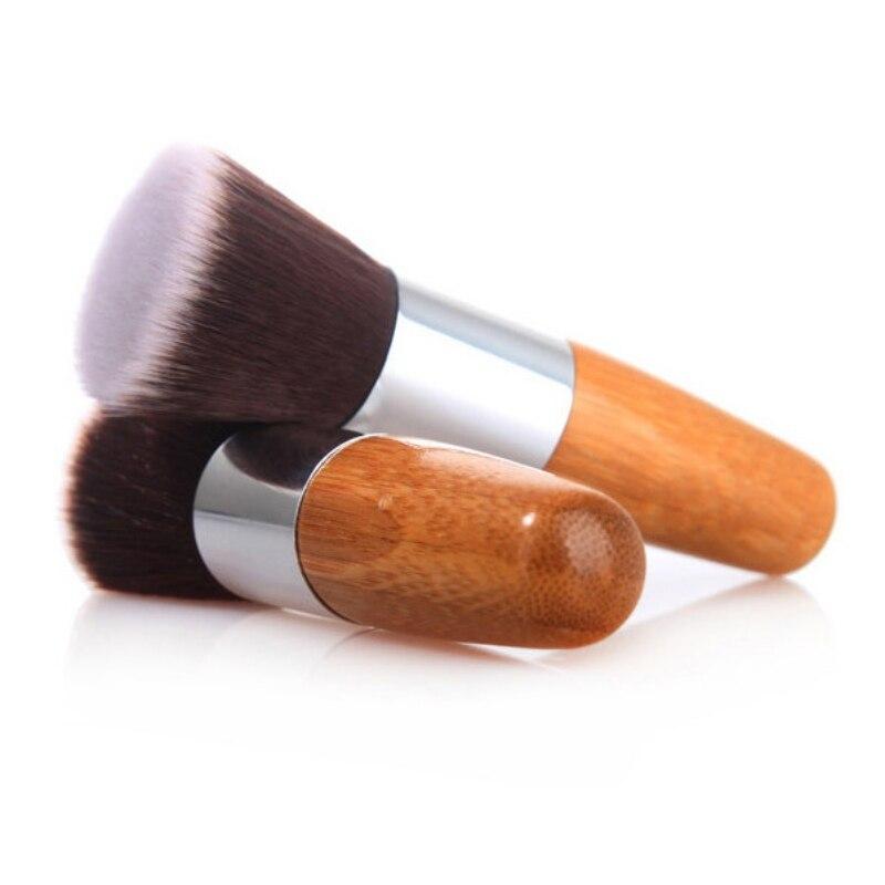 BeautyZone Beauty Foundation Powder Flat Top Brush Cosmetic Professional Wooden Kabuki Make-up Tools mac beauty powder too chic украина