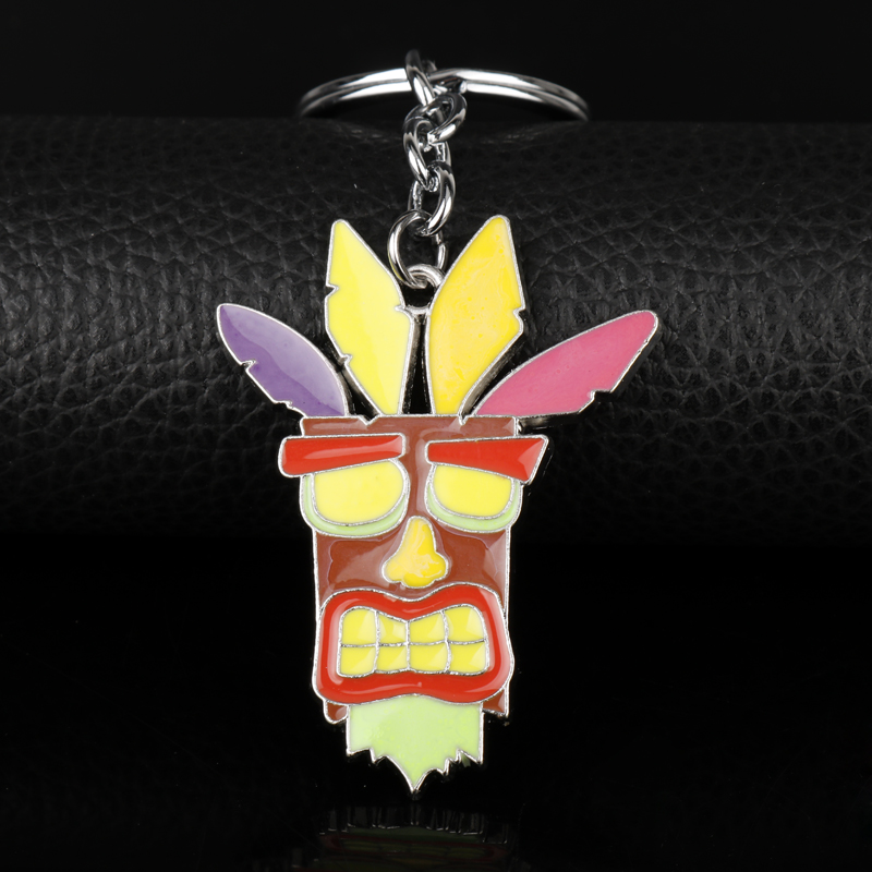 Wholesale Christmas Cosplay Gift Game Crash Bandicoot Pendant keychain For Kids Men Car Women Bags Keyring Souvenirs Chaveiro