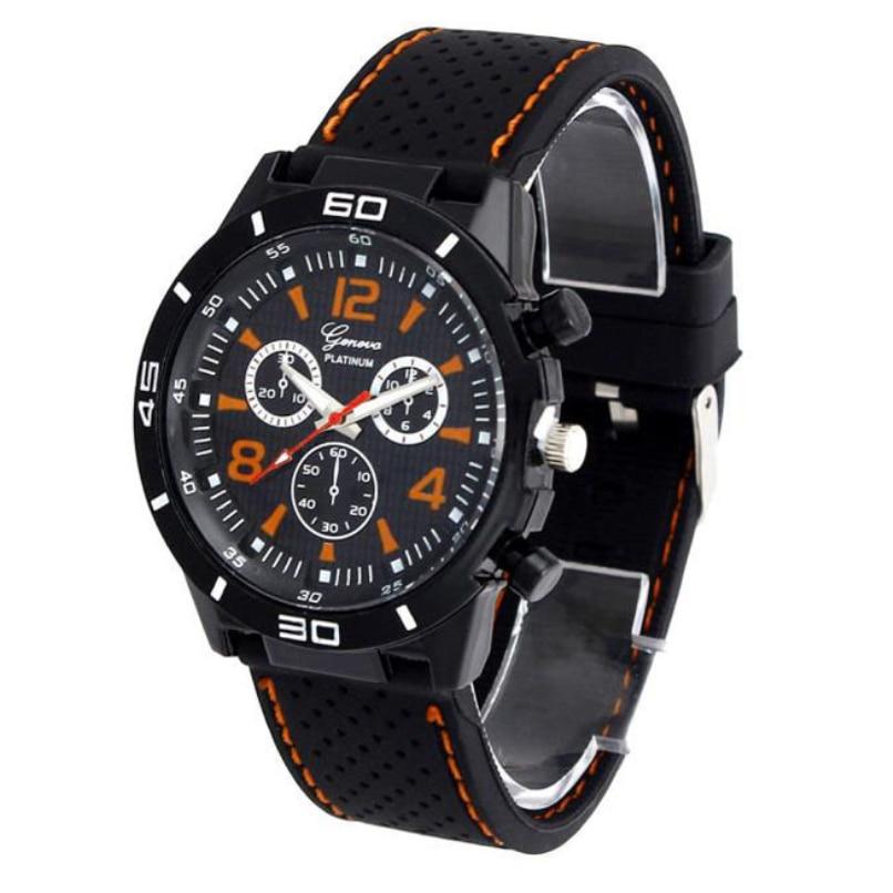 New Hot Men s Watches Digital Dial Silicone Analog Quartz Clock Waterproof Wrist Watch wholesale