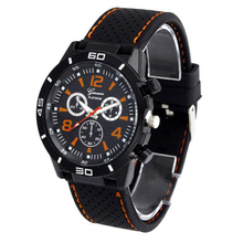 New Hot Men's Watches Digital Dial Silicone Analog Quartz Clock Waterproof Wrist Watch wholesale