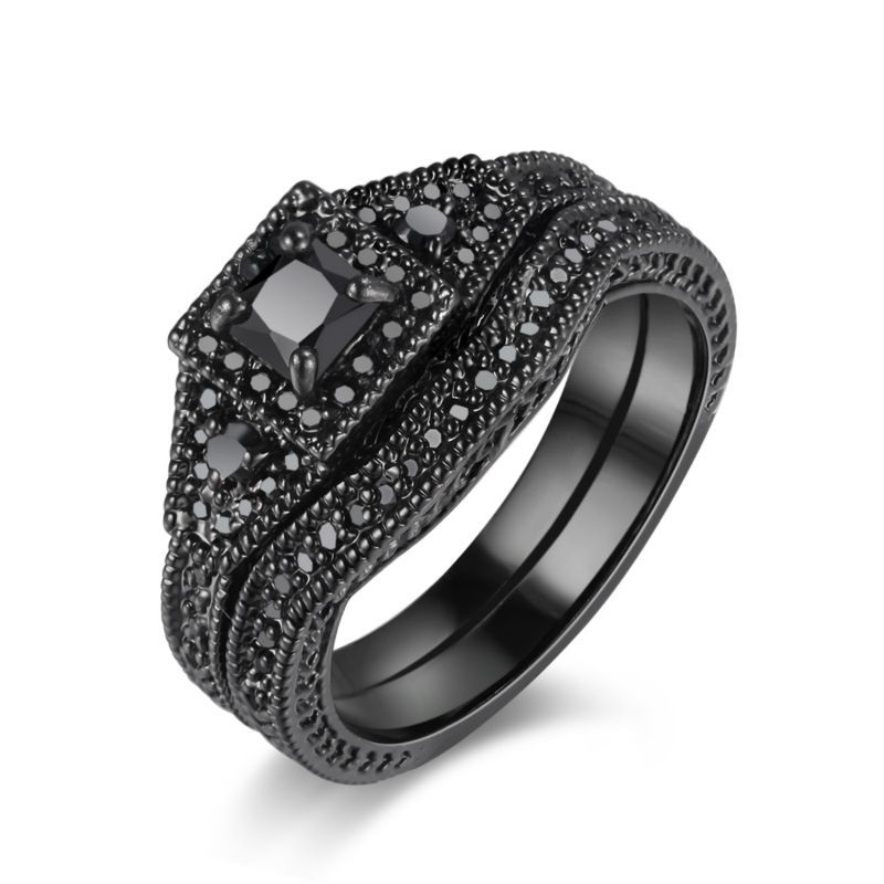 Solid 925 Sterling Silver Jewelry Black Rhodium Plated