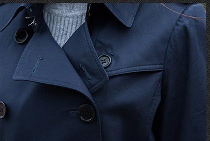 Tranchée 2018 Conception Breasted Nouveau Printemps blue Épaulette Double Mince Automne Classique Survêtement Designer Étanche Femmes Kaki Ceinture Courte xqE8zn