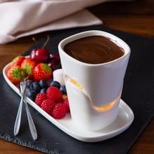 120 ml keramik schokoladen-fondue-set eis topf set eis topf käse topf