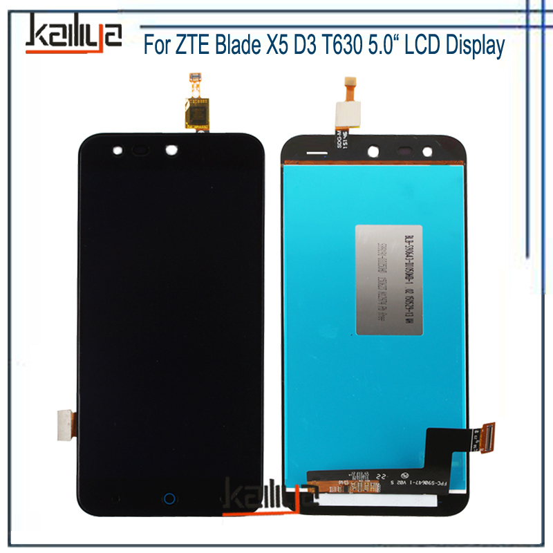 Touch Screen and LCD Display For <font><b>ZTE</b></font> Blade X5 D3 <font><b>T630</b></font> Lcd screen display+Touch Panel Digitizer Assembly Replacement image