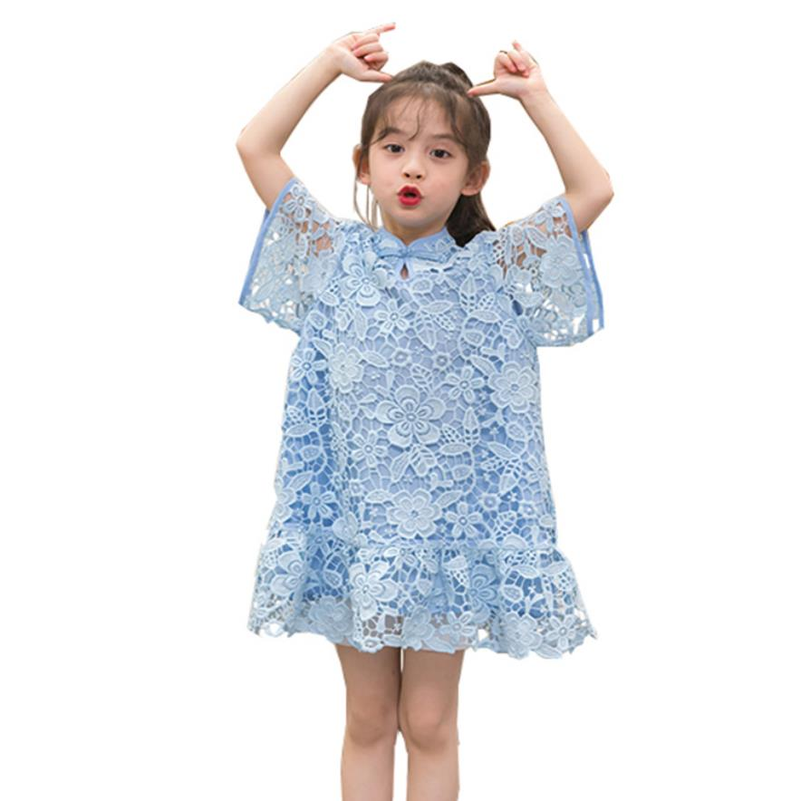 Girls baby lace dress 2019 summer new brand good quality short sleeve princess dress children clothes kids party dress ws674Girls baby lace dress 2019 summer new brand good quality short sleeve princess dress children clothes kids party dress ws674