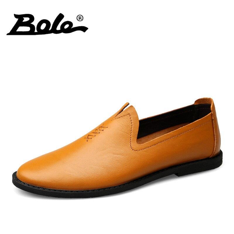 BOLE New Design Slip on Men Causal Shoes Fashion Driving Shoes for Men Design Superstar Flats Loafers Leather Shoes Men Footwear shantou gepai ни мышиная охота