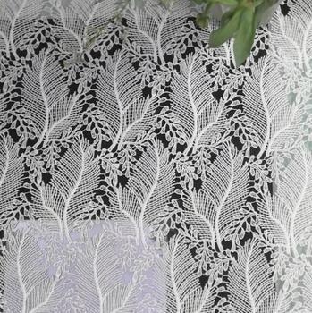 Telas de encaje nigeriano blanco de 2 yardas para vestido de boda, telas de encaje de cordón africano de alta calidad, Material de costura de encaje guipur francés