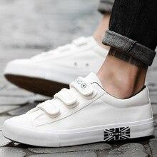 Erkek spor ayakkabı kanvas ayakkabılar erkekler için nefes kanca ve döngü katı marka dayanıklı moda siyah/mavi/beyaz ayakkabı adam