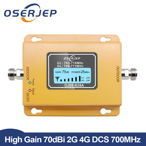 Image 1 - 70dB LCD LTE 700MHz B28A 4G Signal Booster Mobile Phone Repeater for Brazil