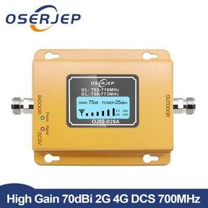 Image 1 - 70dB LCD LTE 700MHz B28A 4G Tăng Cường Tín Hiệu Điện Thoại Di Động Repeater Cho Brasil