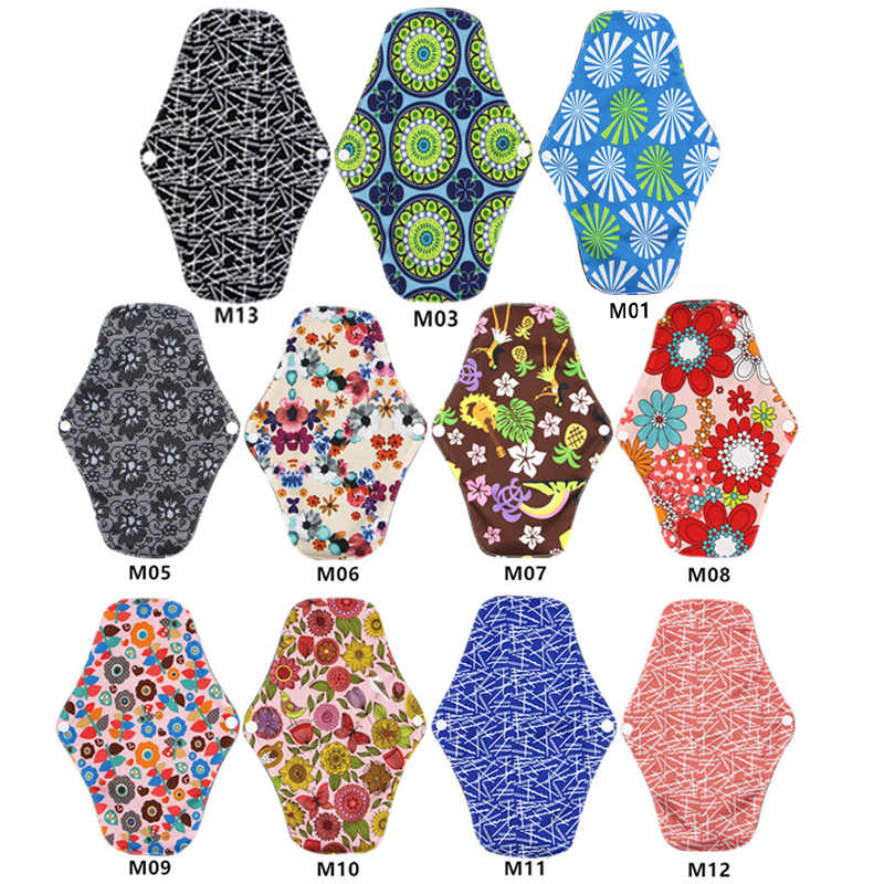20 шт многоразовые прокладки Ткань гигиенические салфетки многоразовые менструальные подкладки полотенца гигиенические моющиеся бамбуковые прокладки