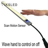 Sensor ir 8520 tira dura Super brillante dura luz barra rígida DC12V onda mano para control de encendido y apagado, no es necesario tocar la luz