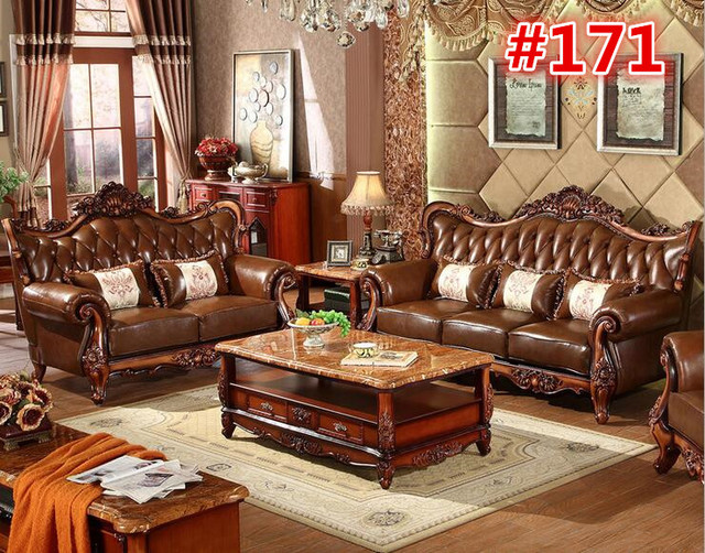 Superieur Solid Wood Sofa Set With Center Table 0409 171