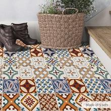 Funlife Turkish Ceramic Tiles Removable Waterproof Seamless Anti-Slip DIY Floor Stickers Wall Decal Kitchen Bathroom  DB0103