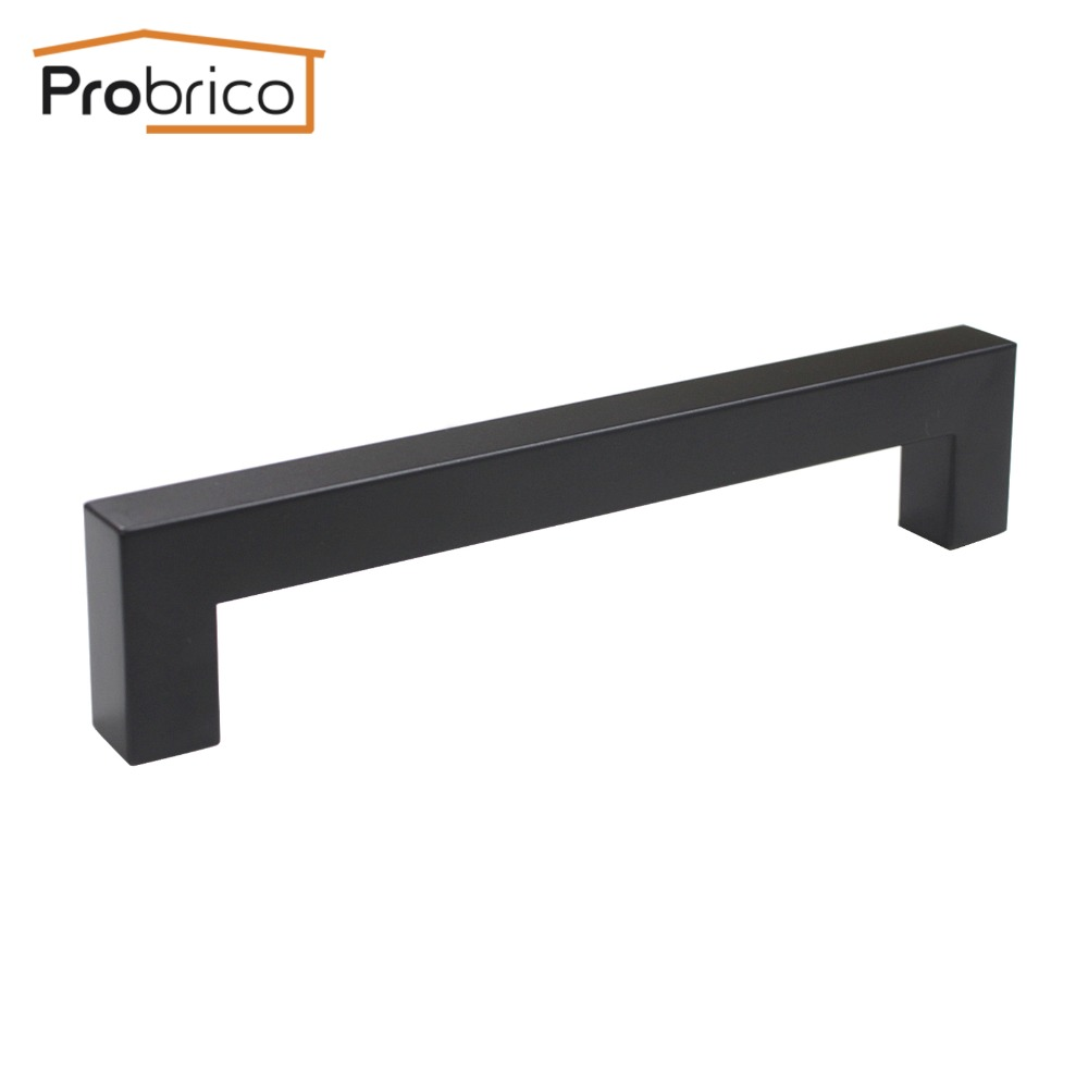 Square Kitchen Door Handles Probrico Black Cabinet Handle 15mm15mm Square Bar Stainless Steel