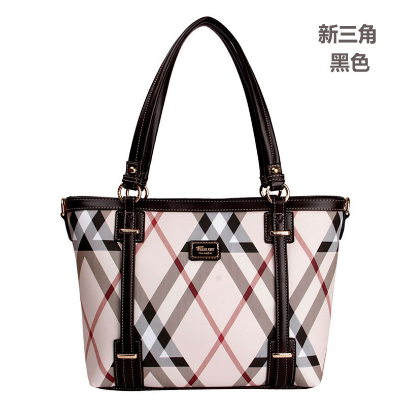 FERAL CAT brand women handbag PVC leather tote bag female classic lattice prints shoulder bags ladies handbags messenger bags feral cat women shoulder messenger bags 2017 pvc plaid ladies plaid clutch handbags vintage crossbody envelope bag female bolso