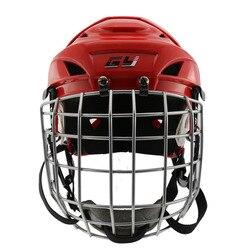 GY Спортивная хоккейная экипировка цветной Лакросс профессиональный хоккейный шлем с лицевой маской для упражнений Детская Экипировка