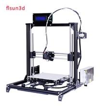 2016 Nuevo De Aluminio Estructura flsun3d 3D DIY Impresora Prusa i3 Kit de Impresora 3d Cama Calentada Dos Rollos Filamento 8 GB SD tarjeta