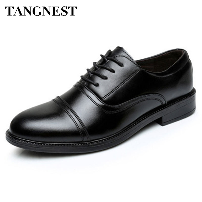 Tangnest 2017 New Arrival Men Flats Solid Round Toe Lace Up Men's Business Shoes PU Leather Slip-on Wedge Shoes For Man XMP628 школьные рюкзаки grizzly рюкзак ru 700 2