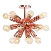 Nórdicos restauración creativo industrial lámpara de techo Vintage oro rosa Hotel restaurante Bar de hierro de luces de techo de la lámpara