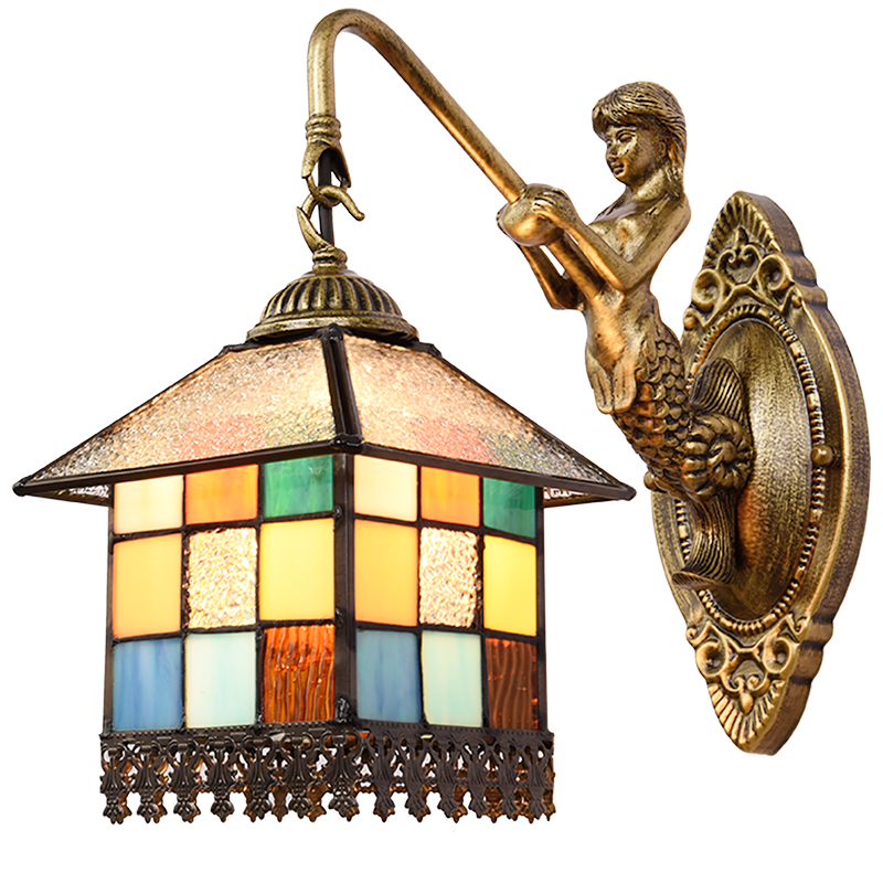Здесь продается  light bedroom bedside lamp wall lamp lamp European Mediterranean small house lighting retro creative  Wall Lamps DF79  Свет и освещение