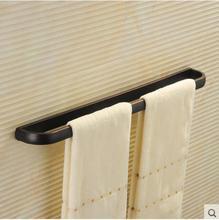 O Envio gratuito de estilo Euro titular Toalha Moda Toalha Cobre barra de Toalha de Banho Gancho de Toalha Acessórios Do Banheiro Rack de 24 polegada