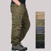 Модные мужские повседневные брюки, мужские брюки-карго, комбинезоны с несколькими карманами, мужские повседневные брюки, мужские брюки, мешковатые брюки, XXXL