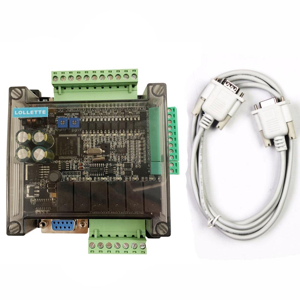 LE3U FX3U 14MR 6AD 2DA RS485 8 2 6 6 saída de relé de entrada analógica de entrada analógica (0-10 v) saída plc controlador RTC (real time clock)