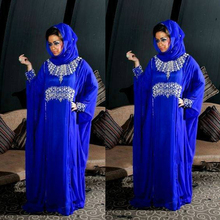 Hijab Muslim Evening Dress Kaftan 2017 Crystals Sparkly Long Chiffon Cheap Formal Dresses 2016 Robe Longue Femme