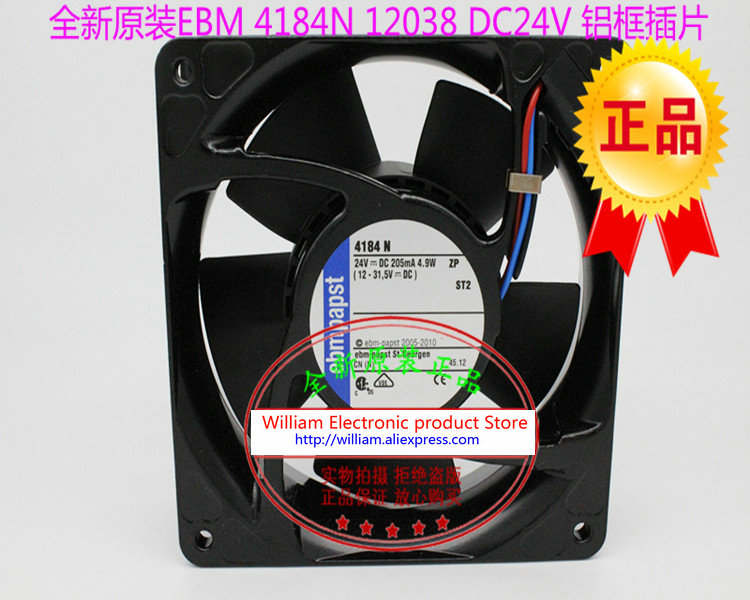 New Original EBM PAPST TYP 4184N DC24V 4.9W 120*120*38MM 12CM converter cooling fan new original ebm papst 9906l 9906 l ac 115v 120ma 100ma 9w 8w 120x120x25mm axial cooling fan