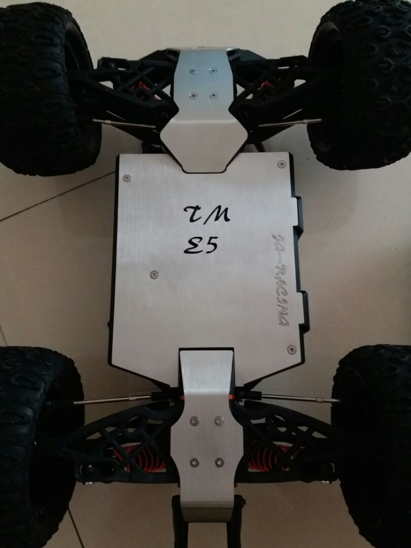 TEAM MAGIC TM E5 Stainless Steel Chassis Armor Protection Crash Bottom Plate Bumper Rc Car