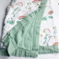 six layers 70% bamboo+ 30% cotton baby Swaddle baby blanket Wraps Cotton Baby muslin Blankets Newborn muslin quilt