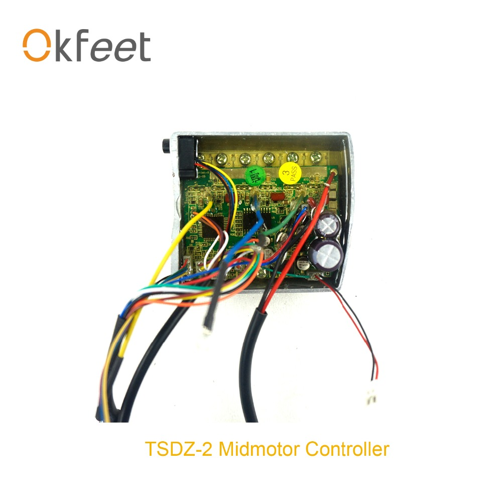 okfeet TSDZ 2 Mid drive Motor Inner Controller Replacement Electric bicycle controller 250W 350W 500W motor
