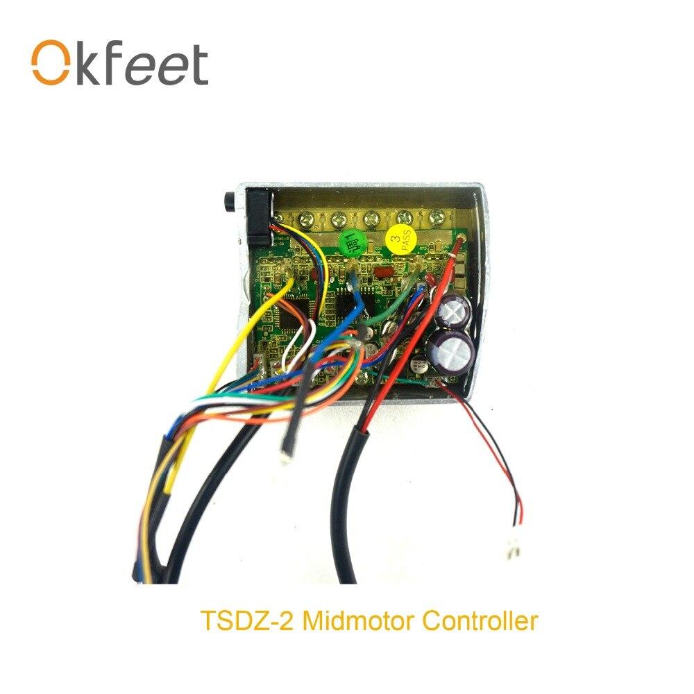 Okfeet TSDZ-2 Mid Drive Motor Inner Controller Replacement Electric Bicycle  Controller 250W/350W 500W  Motor Conversion Kit