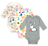 2017 New 3 Pieces Set Baby Girl Rompers Pants Autumn Style Newborn Baby Clothing Sets Boy