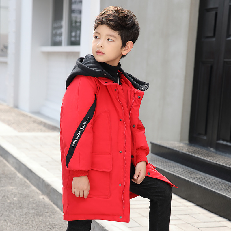 Boys Winter Coat 2018 New Long Children Winter Thick Jacket Warm Duck Down Parka Coats for Kids Hooded Toddler Snow Suit 6-14Y женские пуховики куртки winter thick down coat xq746 new warm parka