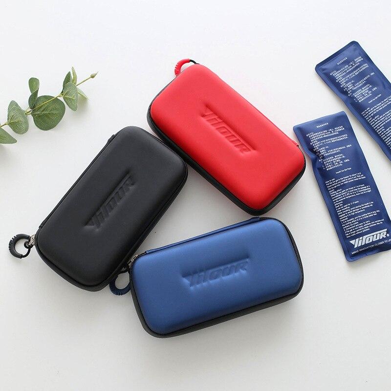 Caldo Insulina Portatile Borsa Frigo Droga Borsa Termica Sacchetto Di Cure Mediche Di Ghiaccio Sacchetto Più Freddo 1 Scatola Di 2 Impacchi Di Ghiaccio Per L'ambiente