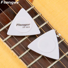 10pcs Flanger Patented Triangle Guitar Picks PC + ABS Material 1.0 0.75 0.5 mm Thickness in 1 Pick Antislip Style Picks FP-003