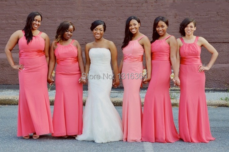 Aliexpress.com : Buy Cheap Bridesmaid Dresses Simple Design Halter ...
