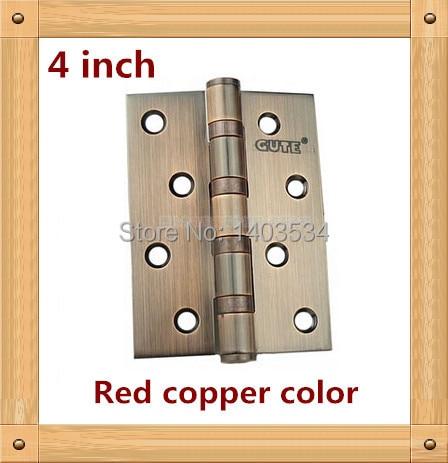 1 Par 4 pulgadas muebles bisagra bisagra bisagra de la puerta de color de cobre Rojo de acero inoxidable 304