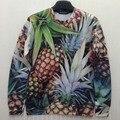 New 2016 3d pineapple print sweat Vivid picture funny sweatshirt women/men fashion streetwear harajuku hoodies top wholesale