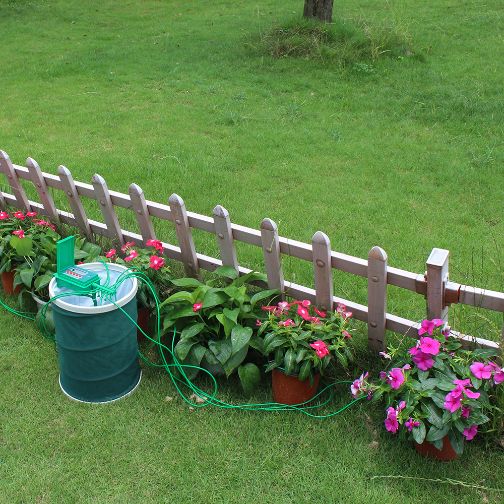 Домашний домашний автоматический умный капельный полив наборы полива сада система полива растений, цветов Маленький насос контроллер